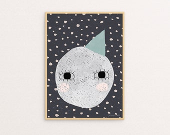 Another Cute Moon 30 x 40 print