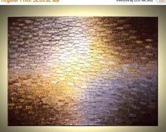 Original Painting By Dan Lafferty, Gold Metallic Painting, Abstract Art, Bronze Palette Knife Paintings, Modern Textured Impasto Art - 36x48