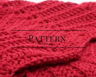 chevron afghan pattern, ripple baby blanket pattern