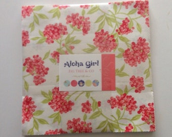 SALE. New Aloha Girl Layer cake  by Fig tree & co for Moda