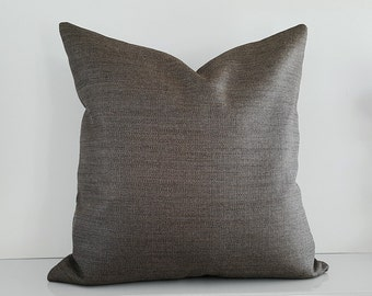 Contemporary Luxury Pillows, Solid Grey Pillows, Dark Taupe Pillow Covers, Charcoal Pillows, Dark Grey Decorative Pillows, 14x20, 18, 20x20