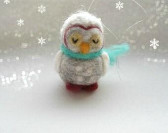 Owl ornament,Needle Felted owl, Decoration,Owl Ornament,Felt Ornament,Handmade