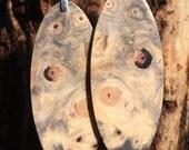 Big Wood Earrings Reclaimed Buckeye Burl Super Lightweight