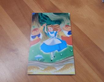 Upcycled Note Pad Disney Alice in Wonderland
