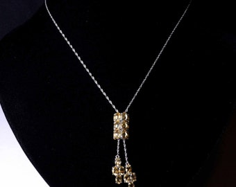 Brazilian  Citrine bolo style necklace set in 925 and platinum bond shipping included Usa & Can
