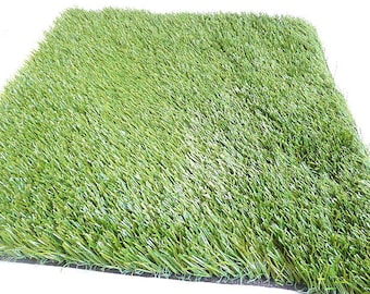 Artificial Grass, Fake Grass 21   Inches x 22    Inches, Drainable Backing, Fairy Garden, Easter Grass