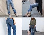 LEVI Jeans In Your Size Denim 501's Levi Highwaist Vintage Renewal Levi's Boyfriend Jeans