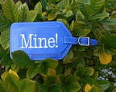 Leather Luggage Tag---It's MINE