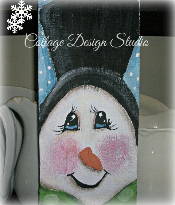 snowman sign snowman decor holiday decor home decor