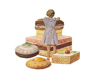 "Baking With Julia 3 - 11""x14"" giclee print"