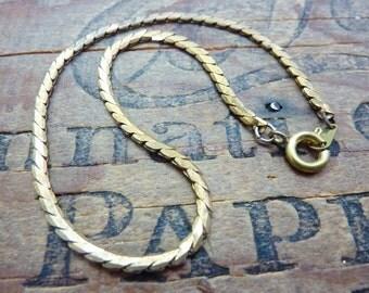 Chain Bracelet Chain Vintage Brass Chain Serpentine Chain 8 3/4 inch Bracelet 2mm wide (4)