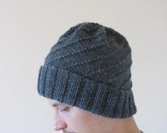 Mens knit hat knitting pattern Etsy UK