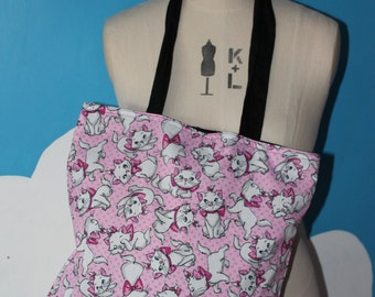 pink disney marie from aristocats tote bag
