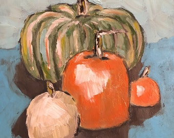 Pumpkin Patch original painting for fall