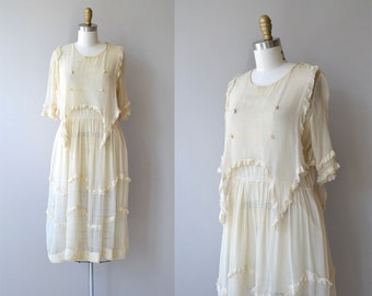 One and Only dress | antique 1920s dress | cream silk 20s dress