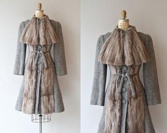 Great Exhibition coat | vintage 1930s coat | fur trimmed 30s coat