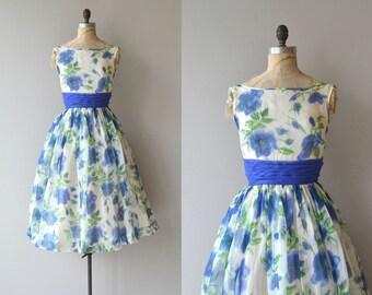 Delta Blues dress | vintage 1950s dress | floral 50s dress