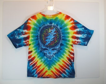 Grateful Dead 1995 Summer Tour Tie Dye Vintage Skull & Rose Tee