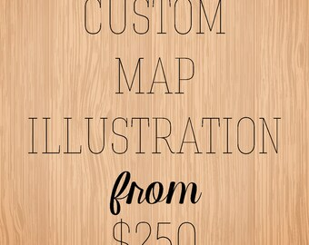 Custom Map Illustration Art Print - Personalized gift for any occasion
