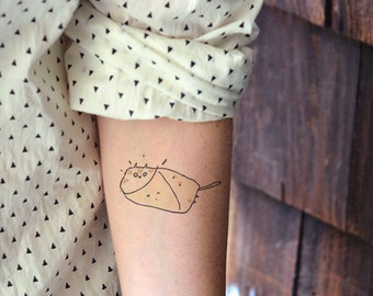 Purrito Cat - Temporary Tattoo - Cattoo - Cat tattoo