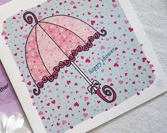 Bridal Shower Umbrella, Bride, Shower, Happy Shower, Card Congratulation Card