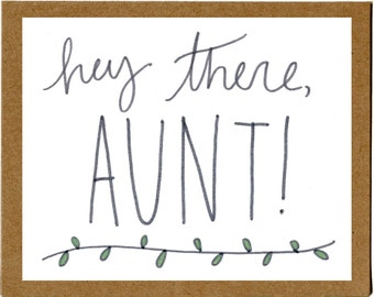 Pregnancy Announcement Greeting Card for Aunt/Uncle-to-Be (Custom Due Date)