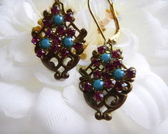 Swarovski Flower Basket Victorian Earrings