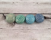 SALE Priced Handmade Ceramic Beads - Coin Beads - Spiral Beads - Jewelry Supplies - Ready to Ship - Made by Marsha Neal Studio