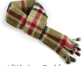 Classic Camel London Plaid Fleece scarves for small dogs