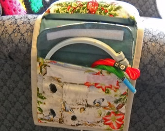 Snow Birds Sewing Caddy, Hand Sewing Organizer