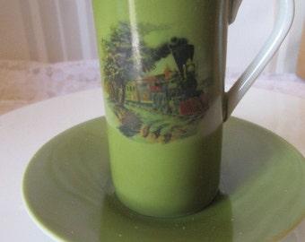 Saki cup and saucer