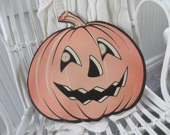 Vintage Beistle Pumpkin * Halloween * JackOLantern * Wall Hanging
