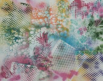 Hand printed cotton fabric