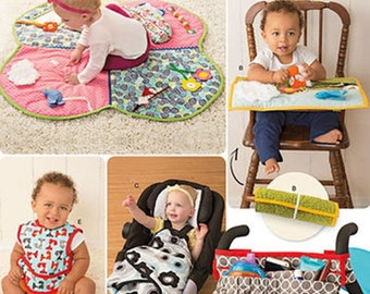 BABY ACCESSORIES PATTERN / Floor or Highchair Playmat / Stroller Blanket - Organizer / Bibs