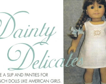 DOLL CLOTHES PATTERN - Fits American Girl -  18 Inch Dolls / Slip - Panties / Forties Styles