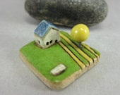 MyLand -  Waiting for Spring  - Collectible 3x3 cm or 1.2x1.2 in. puzzle in stoneware