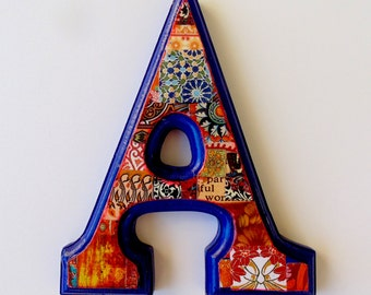 Nursery Wall letter, Decorative letter, Letter A