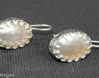 Mabe Pearl Crown Earrings