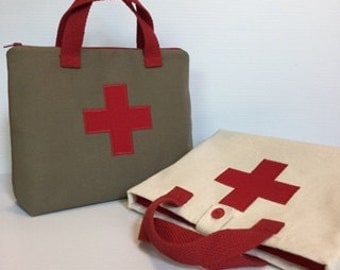 Red cross childs doctor bag, doctor kit