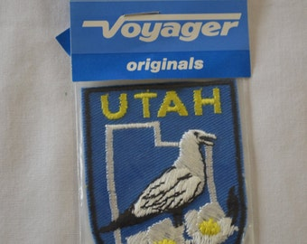 Vintage UTAH state embroidered fabric patch Voyager Original new in package