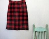 Betsy - vintage 50s plaid skirt