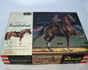 Vintage Revell Toy Horse Model Kit The American Saddlebred