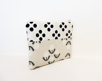 Zipper Pouch, Coin Purse, Change Purse, Gift for her, Cute Pouch, Fun Pouch, Pouch, Fabric Pouch, Cotton Steel Retro Prints