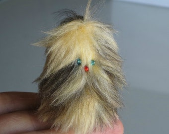 Monster plush miniature stuffed animal soft furry fuzzy Fur-bitz doll