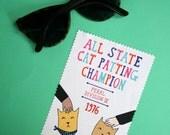 Microfibre Cloth - Cat Patting Champion