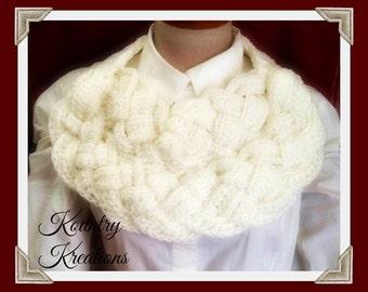 Braided Crochet Scarf, Double Braided Scarf, Crochet Cowl, Chunky Cowl, Neckwarmer, Button Up Cowl, Crochet Scarf Cowl