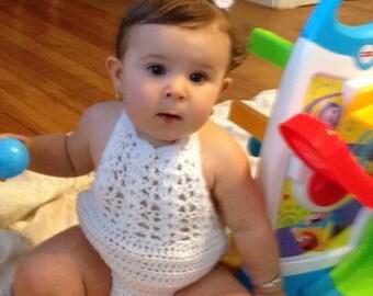 Crochet Baby Romper, Newborn Photography, Newborn Outfit, Crochet Romper, Newborn Outfit, Baby Girl Romper,  Baby Girl (Ready to Ship)