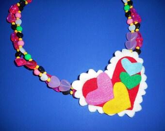 Fabulous Felt Colors of the Couer Necklace