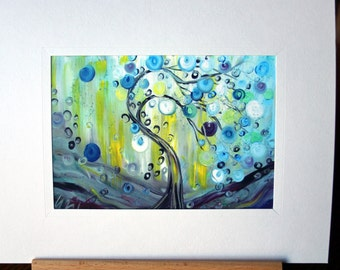 Rain Painting Print, Giclee Print on paper, Limited Edition, Black Friday Sale