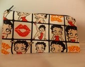 Pencil Pouch, Betty Boop Makeup Bag, Betty Boop Gadget Case, Betty Boop Medicine Bag, Betty Boop Bag, Medicine Pouch, Makeup Pouch
